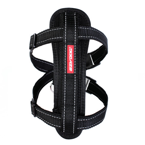 (d) Ezy Dog Black Chest Plate Dog Harness Small