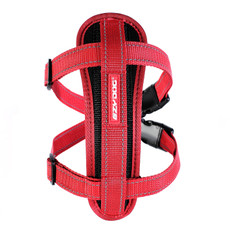 (d) Ezy Dog Red Chest Plate Dog Harness Medium