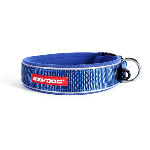 Ezy Dog Blue Neo Dog Collar Large