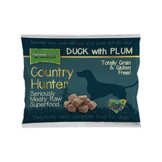 Natures Menu Country Hunter Frozen Raw Dog Food Nuggets With Duck & Plum 1kg