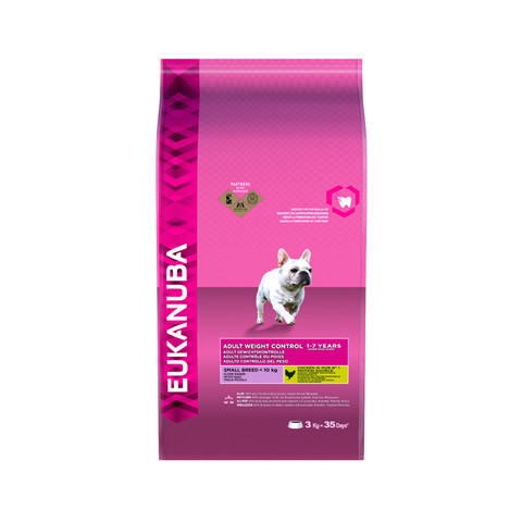 Eukanuba Adult Weight Control Small Breed Dry Dog Food 3kg