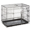 Dog Life Dog Crate Double Door Black Jumbo 48in