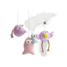 Ancol Fishin' Mousin' Tweetin' Character Wand Cat Toy