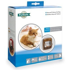 Staywell Magnetic 4 Way Locking Deluxe 420 Cat Flap In Brown