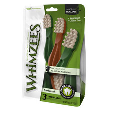 Whimzees Toothbrush 188mm Extra Large Dental Dog Chew Treat Pack 3 Pack