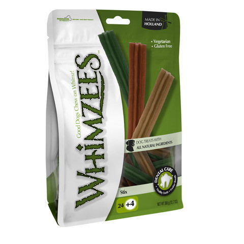Whimzees Stix 120mm Small Dental Dog Chew Treat Pack 28 Pack