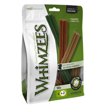 Whimzees Stix 180mm Large Dental Dog Chew Treat Pack 6 Pack