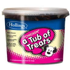 Hollings Tub Of Chicken Dog Treats 450g