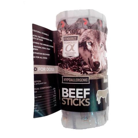 Alpha Spirit Grain Free Beef Sticks Natural Dog Treat 16 Pack To 12 X 16 Pack