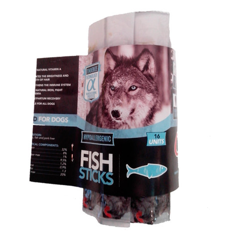 Alpha Spirit Grain Free Fish Sticks Natural Dog Treat 16 Pack