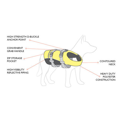 Ezy Dog Dog Floatation Life Jacket In Yellow Small