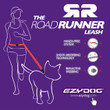 Ezy Dog Road Runner Shock Absorbing Running Dog Lead In Red