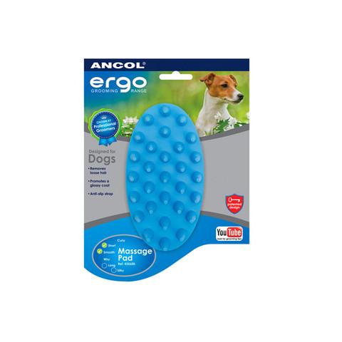 Ancol Ergo Massage Pad Pet Brush  To 3 X