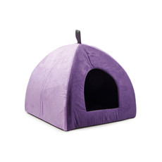 Ancol Faux Suede Two Tone Purple Pyramid Cat Bed