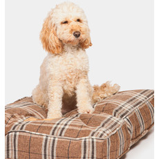 Danish Design Newton Truffle Luxury Box Duvet Dog Bed 87x67cm