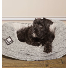Danish Design Bobble Pewter Sherpa Fleece Slumber Dog Bed 76cm