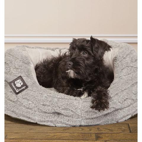 Danish Design Bobble Pewter Sherpa Fleece Slumber Dog Bed 76cm