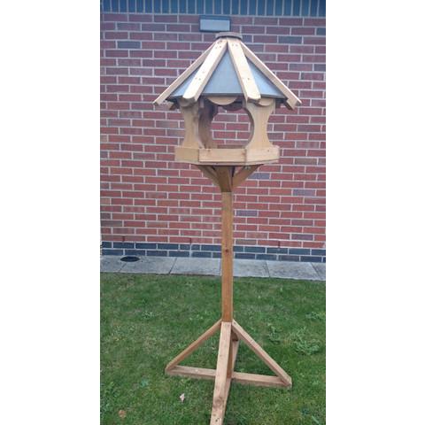 Warwick Octagonal Garden Wild Bird Table On Stand