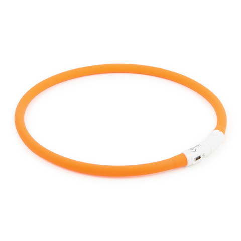 Ancol High Visibility Halo Safety Band Orange Flashing Dog Collar One Size