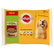 Pedigree Adult Dog Pouch Chicken And Vegetables & Beef And Vegetables In Gravy 4x100g To 13 X 4x100g