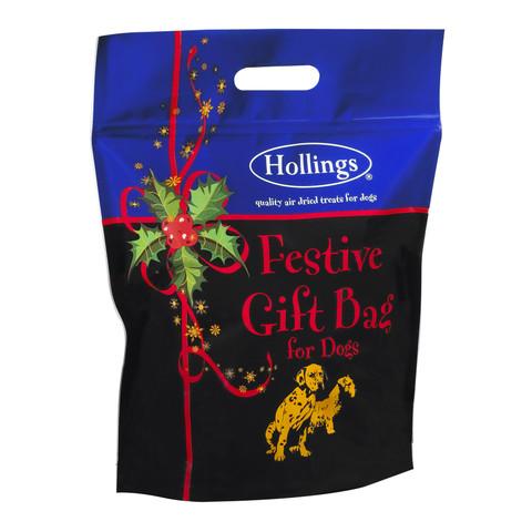 Hollings Christmas Festive Treat Gift Bag For Dogs