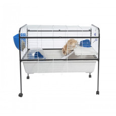 Liberta Warren 100 Rabbit & Guinea Pig Indoor Cage On Wheels