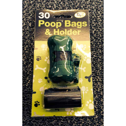 Doggy Poo Bags With Dispenser 30 Bags