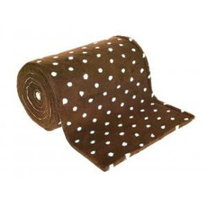 Pet Life Vetbed Dog & Cat Bedding In Brown & Blue Polka Dot 0.5mtr