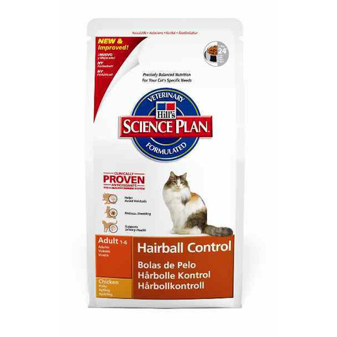 Hills Science Plan Hairball Control Adult Cat Food With Chicken 1.5kg