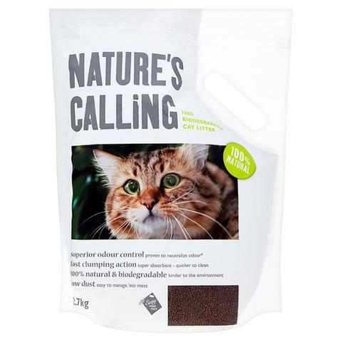 Natures Calling Walnut Shell 100% Biodegradable Clumping Cat Litter 2.7kg