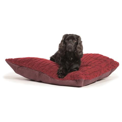 Danish Design Bobble Damson Sherpa Fleece Deep Duvet Dog Bed 87x138cm
