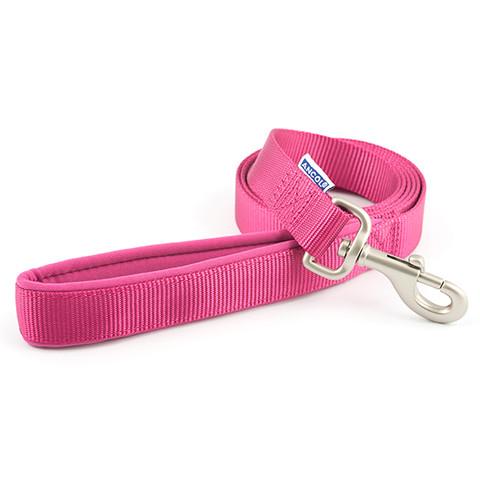 Ancol Heritage Padded Nylon Cushion Raspberry Pink Dog Lead 1.8mx25mm