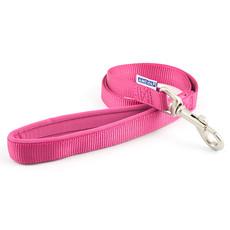 Ancol Heritage Padded Nylon Cushion Raspberry Pink Dog Lead 1m X 19mm