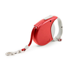 Ancol Small Bite Crown Jewel Ruby Retractable Dog Lead 3.5m