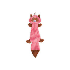 Ancol Plush Pink Squirrel Flattie Unstuffed Dog Toy 35cm