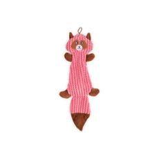 Ancol Plush Pink Squirrel Flattie Unstuffed Dog Toy 35cm