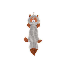 Ancol Plush Grey Squirrel Flattie Unstuffed Dog Toy 45cm