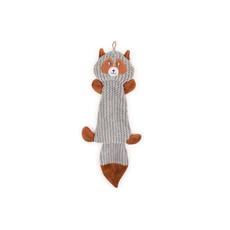Ancol Plush Grey Squirrel Flattie Unstuffed Dog Toy 45cm
