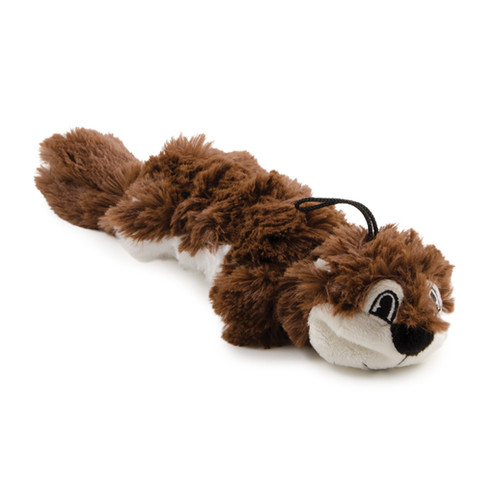 Ancol Rope Filled Squirrel Plush Dog Toy Small To 6 X Small