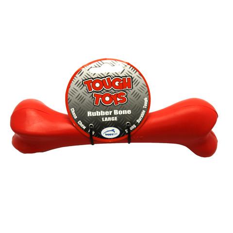 Happy Pet Tough Rubber Bone Dog Toy 8in
