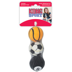 Kong Sports Balls Dog Toy 3 Pack Medium
