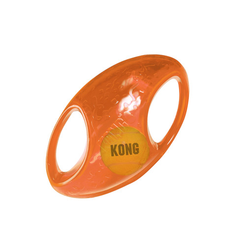 Kong Jumbler Football 2in1 Dog Toy Med/large