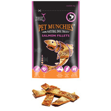 Pet Munchies Wild Salmon Fillets Dog Treats 90g