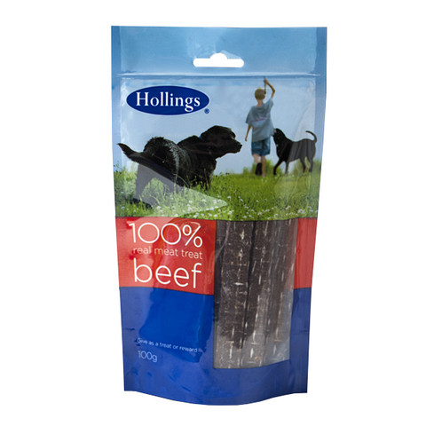Hollings Real Meat 100% Natural Beef Dog Treat 100g