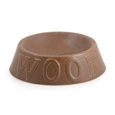 Ancol Ceramic Woof Matt Chocolate Dog Bowl 17cm