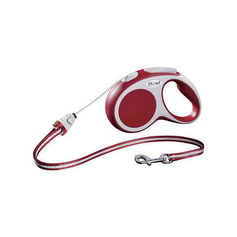 Flexi Vario Retractable Cord Dog Lead Red - 5 Metres Small