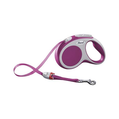 Flexi Vario Retractable Tape Dog Lead Pink - 5 Metres Small