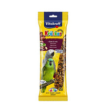 Vitakraft Kracker Parrot Stick Treats With Dates And Nuts 180g To 5 X 180g