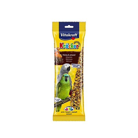 Vitakraft Kracker Parrot Stick Treats With Honey And Aniseed 180g To 5 X 180g