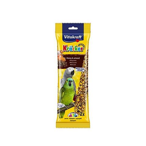 Vitakraft Kracker Parrot Stick Treats With Honey And Aniseed 180g